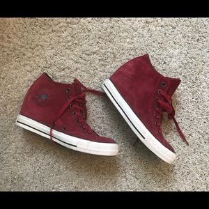 1b0208e571bc Converse Shoes - New converse red suede high tops